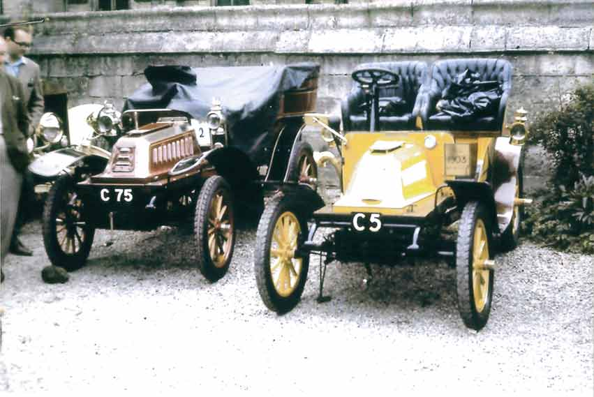 Cars with the registrations C 5 and C 75 in De Dion-Bouton's history