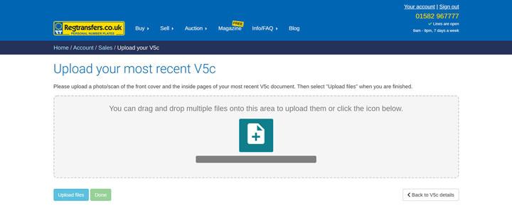 Upload your document (Desktop view)