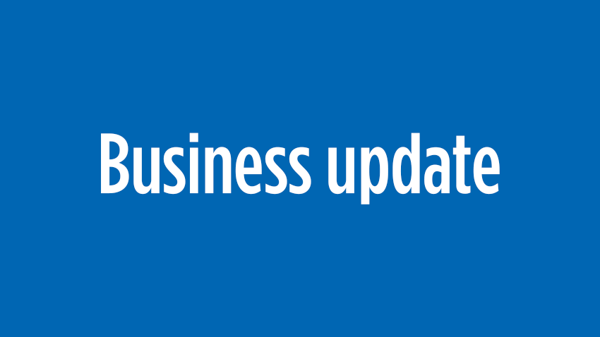Business update graphic