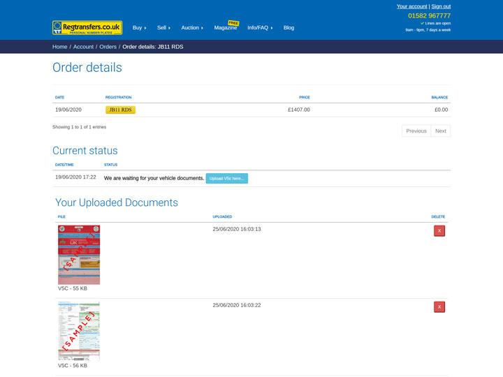 Your uploaded documents (desktop view)