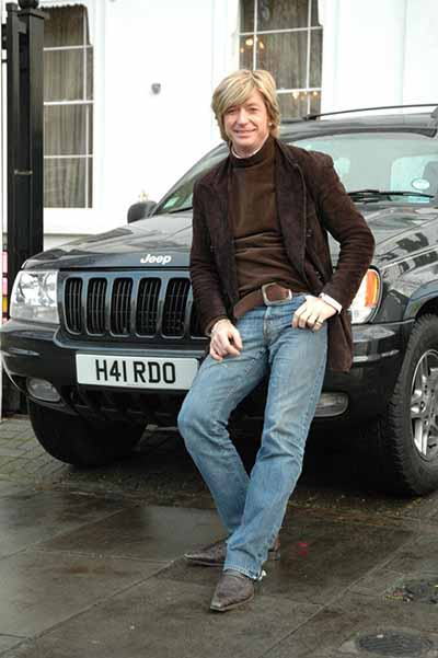 Nicky Clarke with his H41 RDO hairdo number plate