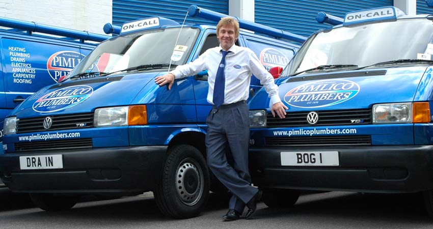Pimlico Plumbers with personalised plates