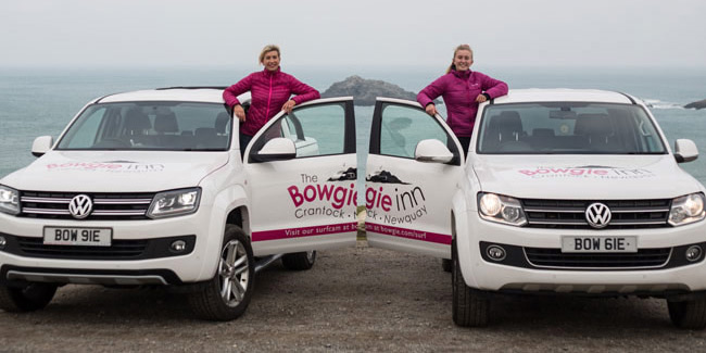 Photo showing the two number plates acquired for The Bowgie Inn