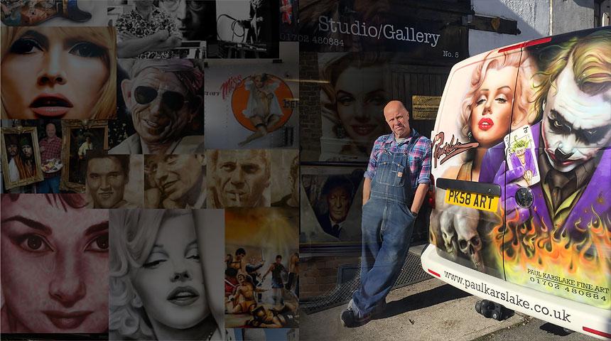 Paul Karslake with his van and PK58 ART