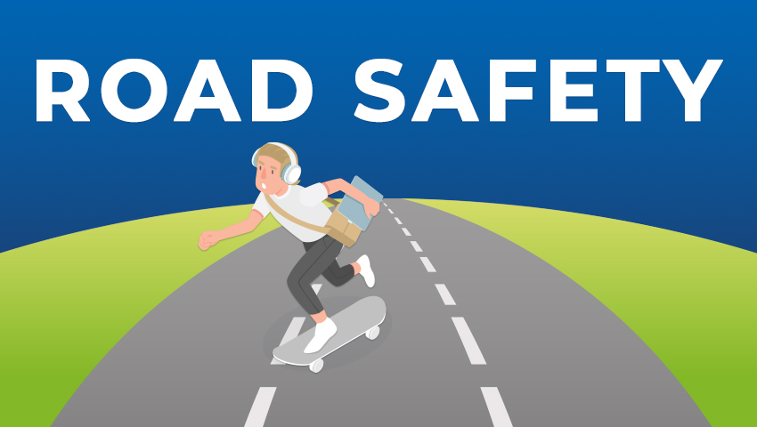 Road safety illustration